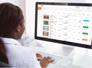 A buyer on MatchRX can search all NDCs on the online pharmacy marketplace to fill a patient script.